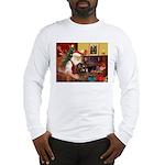 Santa's Newfoundland (br) Long Sleeve T-Shirt