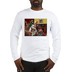 Santa/Norwegian Elkhound Long Sleeve T-Shirt