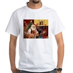 Santa/Nova Scotia Dog White T-Shirt