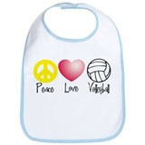 Peace, Love, Volleyball Bib