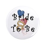 "Bride To Be 3.5"" Button (100 pack)"