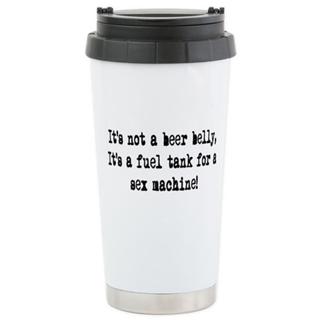 beer belly Ceramic Travel Mug