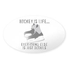 Hockey is Life Oval Sticker (10 pk)
