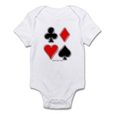 Playing Card Suits Onesie