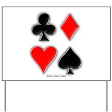 Playing Card Suits Yard Sign
