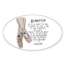 Dance Oval Sticker (10 pk)