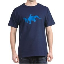 Light Blue Rodeo Triceratops T-Shirt