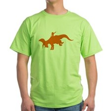 Orange Rodeo Triceratops T-Shirt