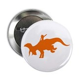 "Orange Rodeo Triceratops 2.25"" Button"