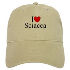 """I Love (Heart) Sciacca"" Baseball Cap"