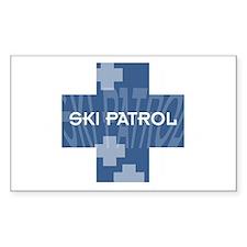 Ski Patrol Rectangle Sticker 10 pk)