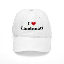I Love Cincinnati Baseball Cap