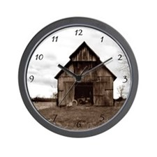 Tobacco Barn Wall Clock