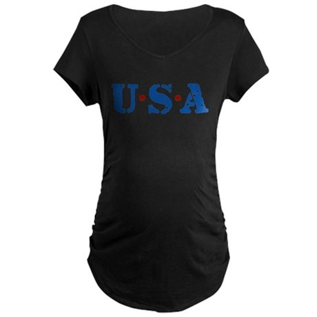 U.S.A. Maternity Dark T-Shirt