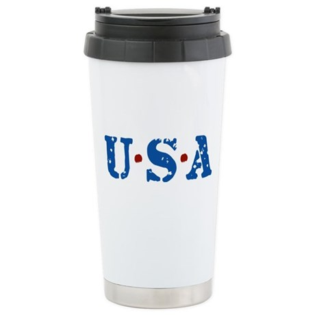 U.S.A. Ceramic Travel Mug