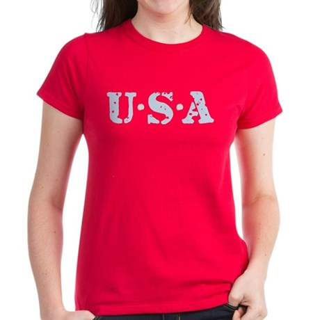 U.S.A. Women's Dark T-Shirt