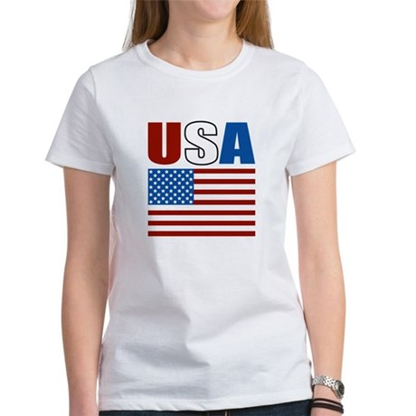 Patriotic USA Women's T-Shirt