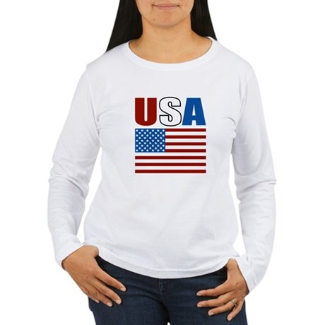 Patriotic USA Women's Long Sleeve T-Shirt