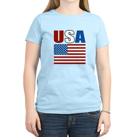 Patriotic USA Women's Light T-Shirt