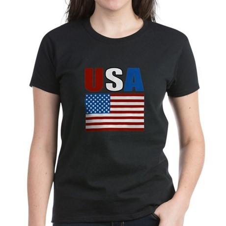 Patriotic USA Women's Dark T-Shirt