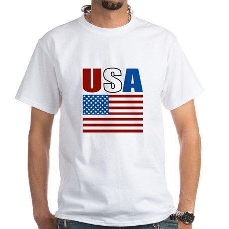 Patriotic USA White T-Shirt