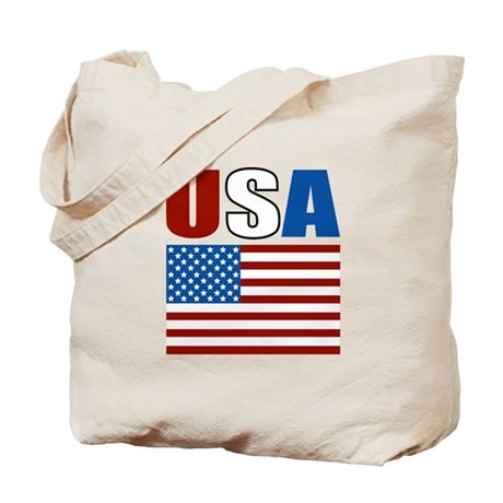 Patriotic USA Tote Bag