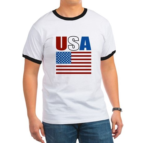 Patriotic USA Ringer T