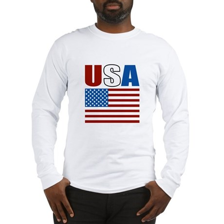 Patriotic USA Long Sleeve T-Shirt