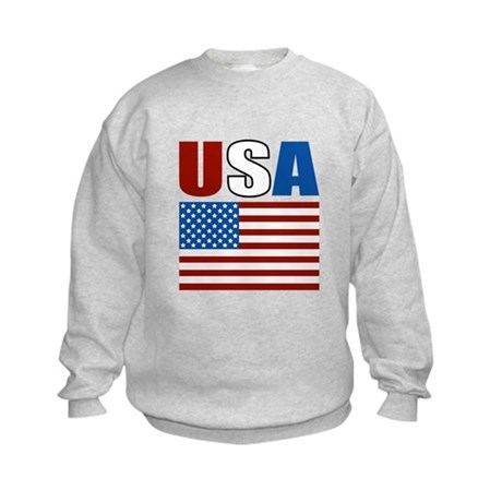 Patriotic USA Kids Sweatshirt