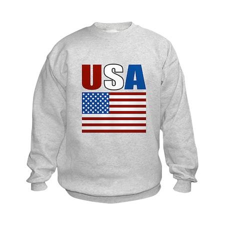 Patriotic USA Kids Sweatshirt