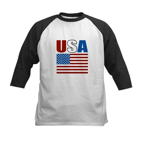 Patriotic USA Kids Baseball Jersey