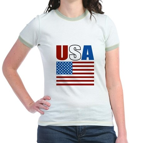 Patriotic USA Jr. Ringer T-Shirt
