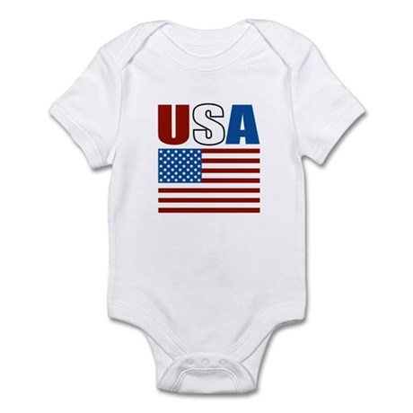 Patriotic USA Infant Bodysuit