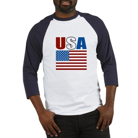 Patriotic USA Baseball Jersey