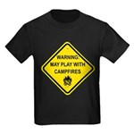 Play With Campfires Kids Dark T-Shirt