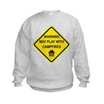 Play With Campfires Kids Sweatshirt