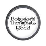 Behavioral Therapists Rock! Wall Clock