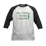 No Fishing License Kids Baseball Jersey