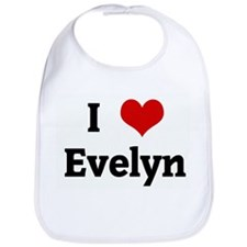 I Love Evelyn Bib
