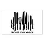 Choose Weapon Sticker (Rectangle)
