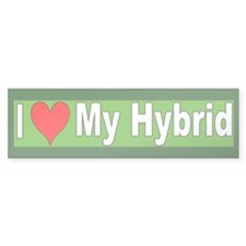 I Love My Hybrid Bumper Bumper Sticker