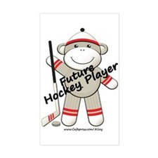 Future Hockey Player Rectangle Decal
