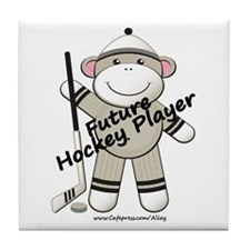 Future Hockey Player Tile Coaster