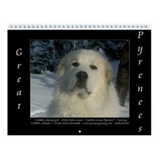 Great Pyrenees Iv #6 Wall Calendar 2015