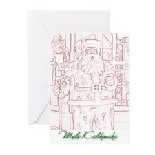 Old Fashioned Santa (Local)  Greeting Cards (6)
