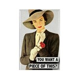Retro Woman Rectangle Magnet