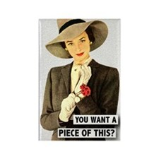 Retro Woman Fridge Magnet