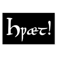 Hwaet! Rectangle Sticker 10 pk)