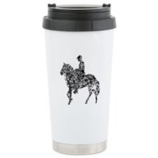 Paso Fino Silver Ceramic Travel Mug