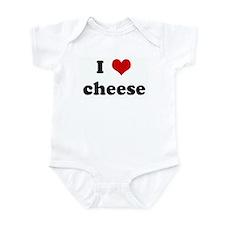 I Love cheese Infant Bodysuit